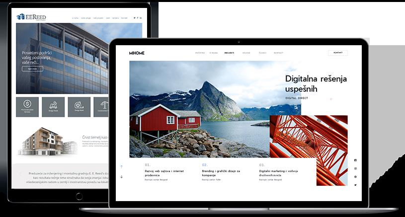 Razvoj veb sajta - Showreel Srpski - Digital Direct BF